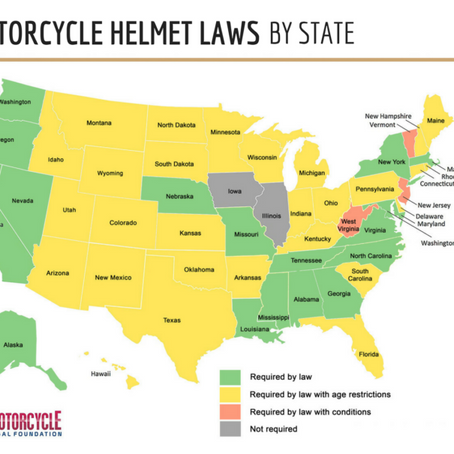 Mandatory Helmet Laws Across The U.S. /  Helmet Laws by State