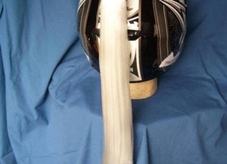 "White Helmet Ponytail 24"""