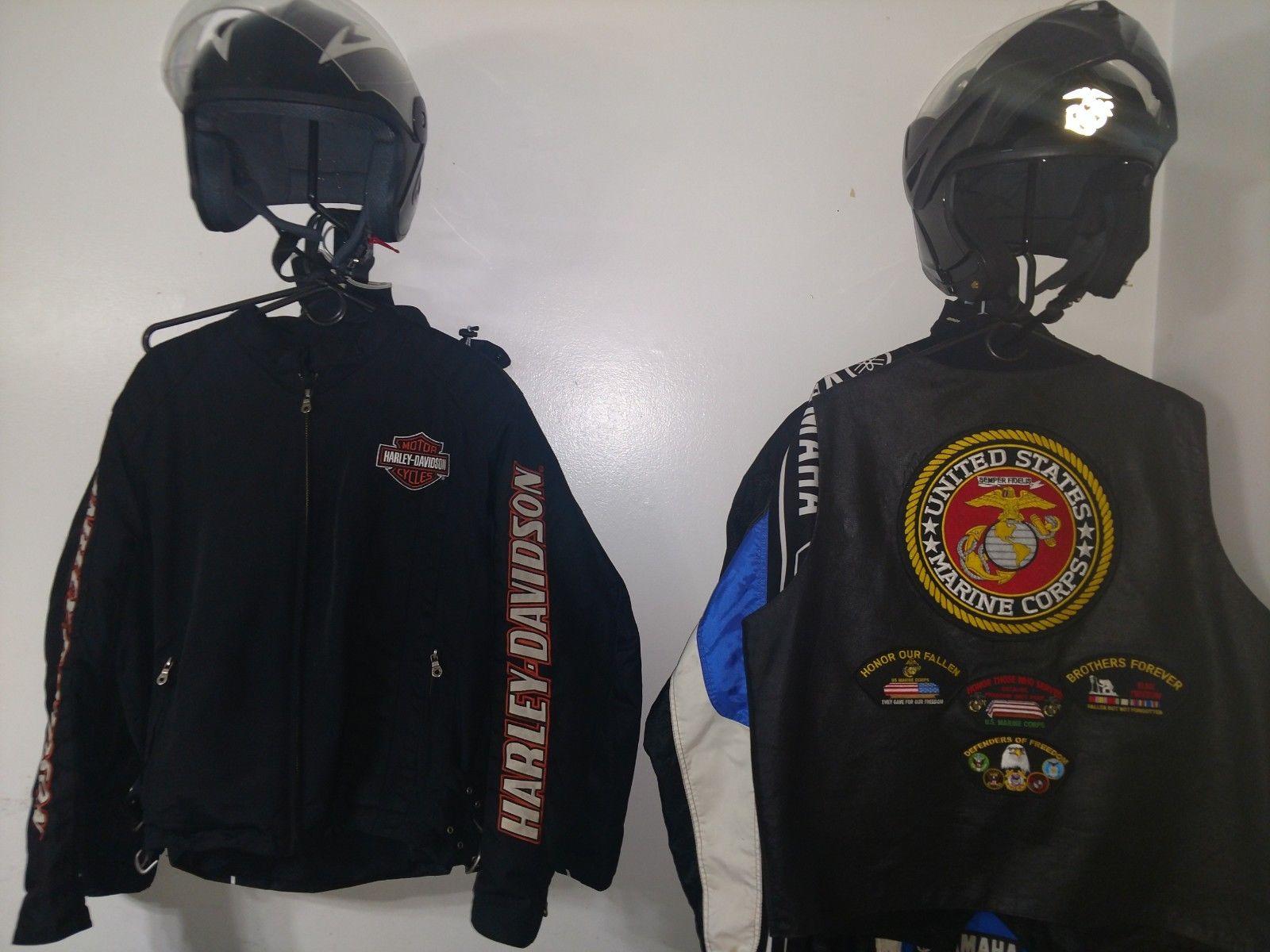 motorcycle helmet jacket holder 1
