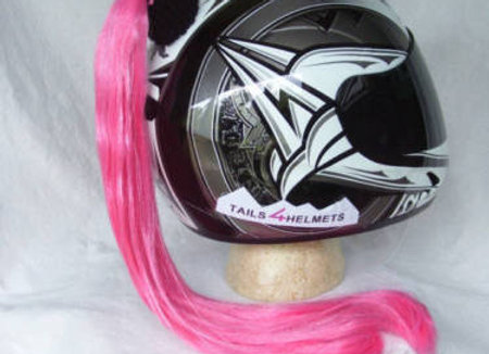"Pink Helmet Ponytail 24"""