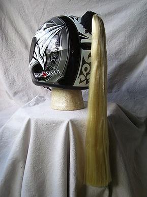"Blonde Helmet Ponytail 24"""