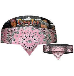 Chop Top: Pink Rose Paisley w/Rhinestones