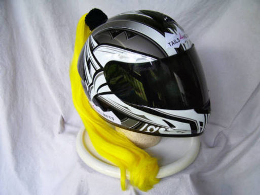 Yellow Helmet Ponytail 24""