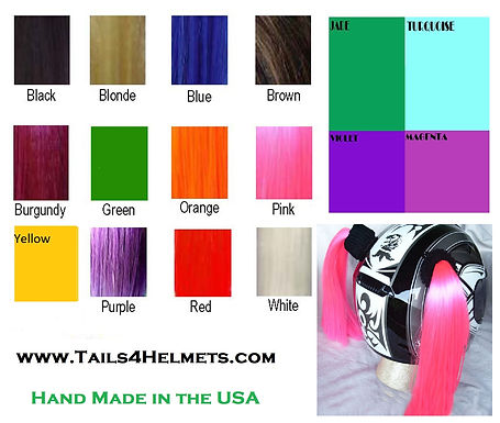 TWO COLOR, Custom Made Helmet Tails