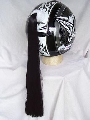 "Black Helmet Ponytail 24"""