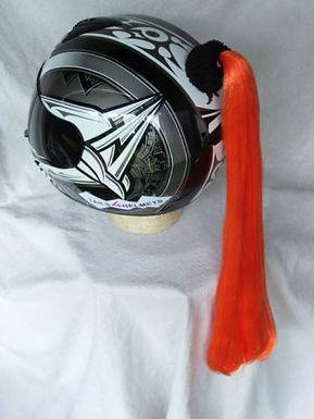 """Orange Helmet Ponytail 24"""""""