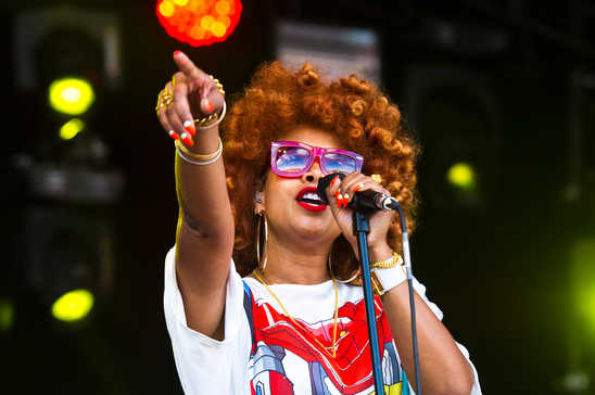 American singer-songwriter and certified chef Kelis at Love Supreme Festival.