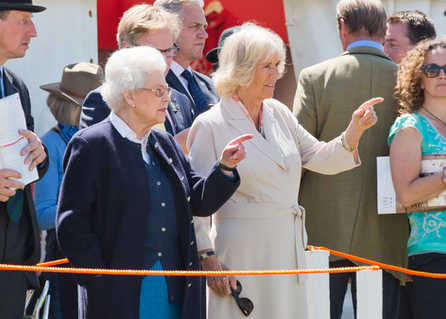 Windsor Horse Show 2015 - Her Majesty The Queen and the Duchess of Cornwall enjoy together one the events at the show.
