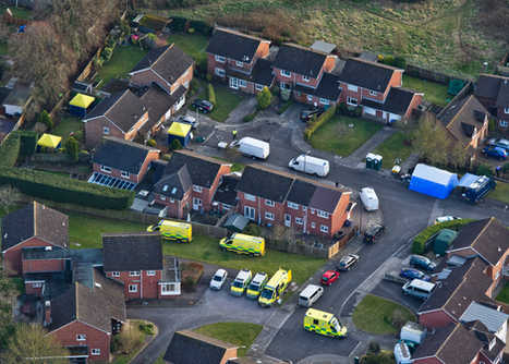 Police confirm that former Russian spy Sergei Skripal and his daughter Yulia were poisoned with nerve agent left on their front door. File pictures show aerial view of forensic science experts, working alongside member of the Metropolitan Police Counter Terrorism team at the home of Sergei Skripal in Christie Mill Road, Salisbury, Wilts.