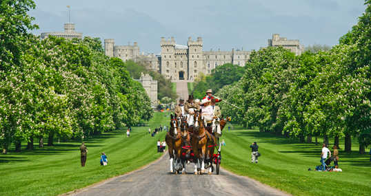 Royal Windsor Horse Show - Carriages competing in a  'Coaching Marathon' at the long walk, Windsor, Berks.