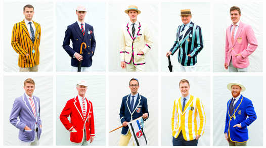 Jackets created a rainbow of colour along the banks of the River Thames at Henley Royal Regatta.