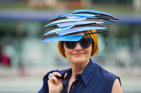 Mary Portas at Royal Ascot.
