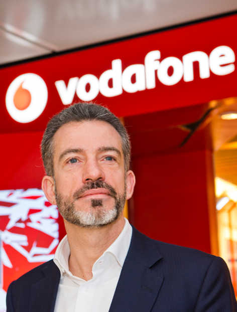 Vodafone UK CEO Nick Jeffery photographed at their HQ in Newbury, Berkshire.