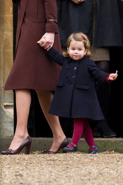 Princess Charlotte attending Christmas service with his parents the Duke and Duchess of Cambridge.