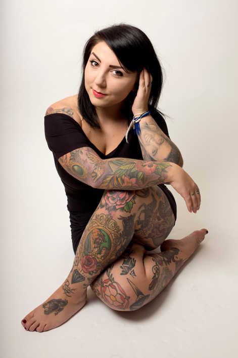 Tattoo lover Amy Parr, 23.