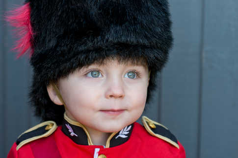 Littel Marshall Scott, 3, became an internet sensation after Coldstram Guards changing the guard at Windsor Castle saluted the pre-schooler who was visiting the castle for a birthday treat.