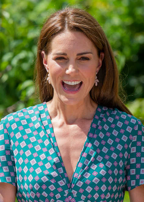 Picture shows the Duchess of Cambridge at RHS Hampton Court Flower Show.