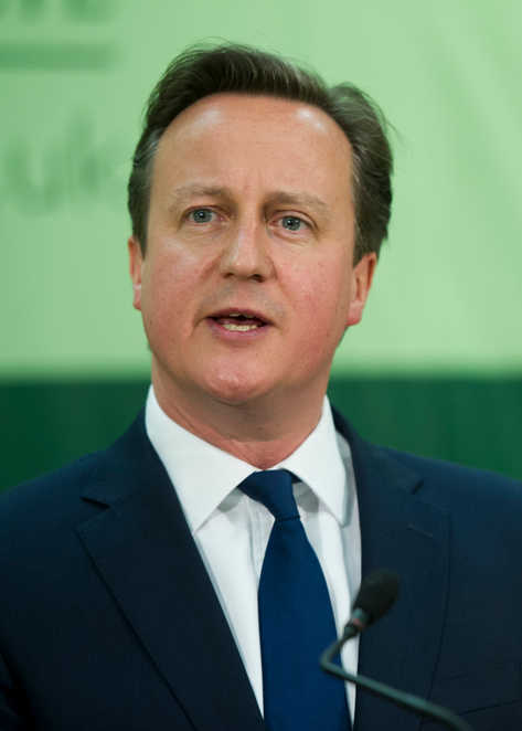 Former prime minister David Cameron photographed during his acceptance speech at his constituency in Witney, Oxon.