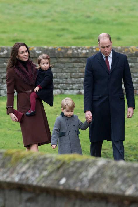 Duchess of Cambridge attending the Christmas mass in Berkshire.