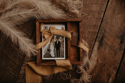 Rustic Timber 5 x 7 print + Usb Box