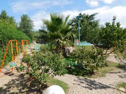 Un sector del jardín