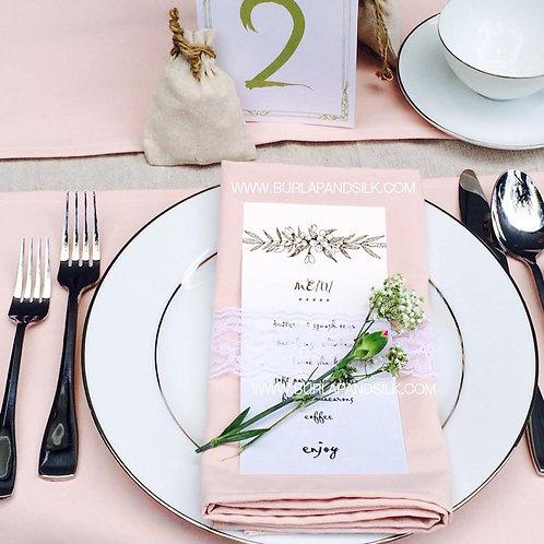 Blush Pink Linen Napkins