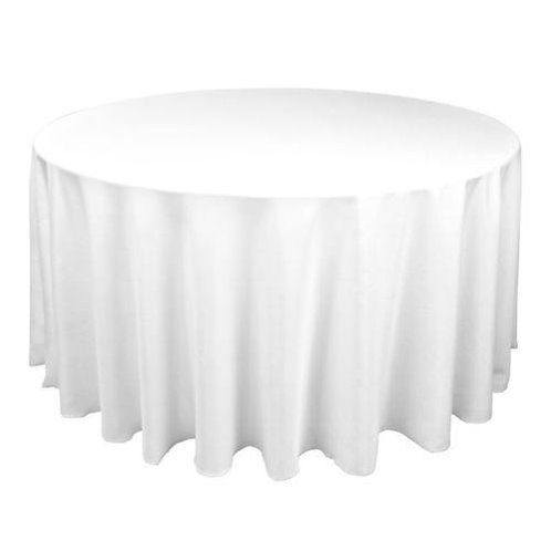 Round Table 180 Cm White Linen