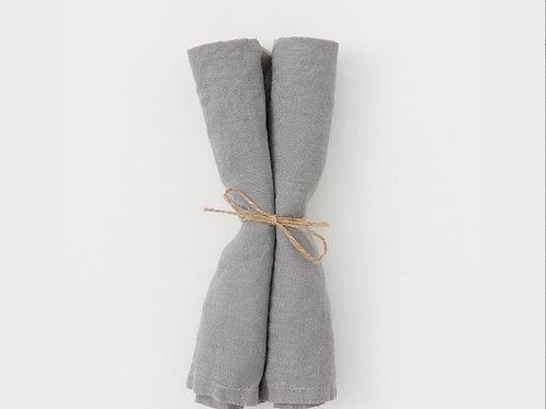Grey Linen Napkins