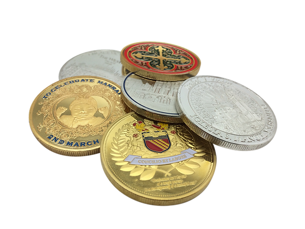 Design your own coin with colours