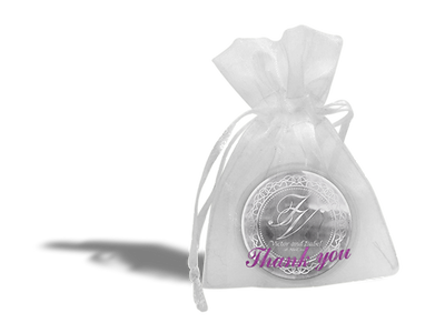 Organza bag personalised
