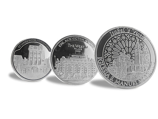 Silver coins, venue samples