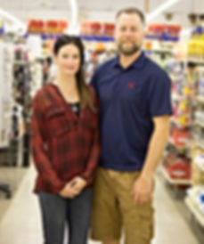 Amy and Clay Glecoff owner and operators at V&S Department Store in Haliburton, Ontario.