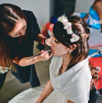 Make up and dress up for wedding