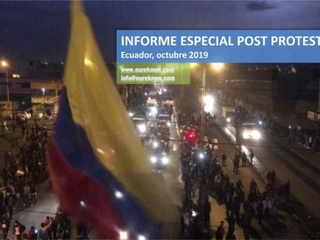 INFORME ESPECIAL POST PROTESTAS