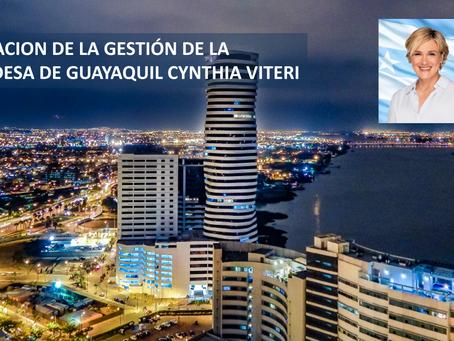 EVALUACION DE LA GESTION DE LA ALCALDESA DE GUAYAQUIL CYNTHIA VITERI
