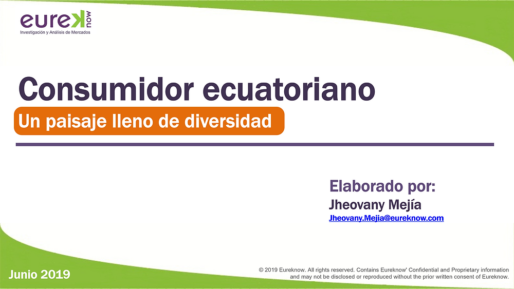 Estudio sobre el consumidor ecuatoriano