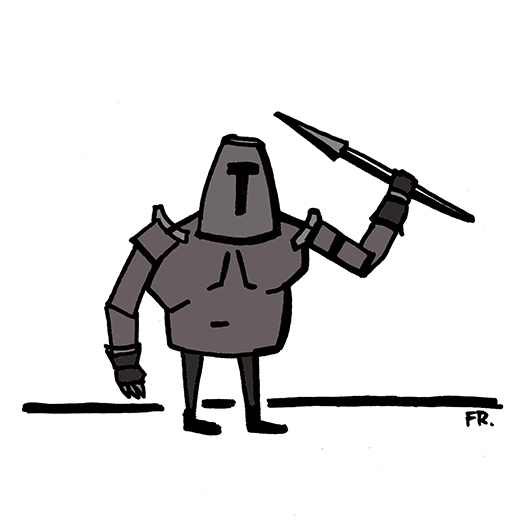 O cavaleiro de pernas curtas