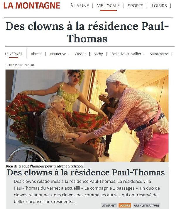 Clownmaisons de retraite Auvergne