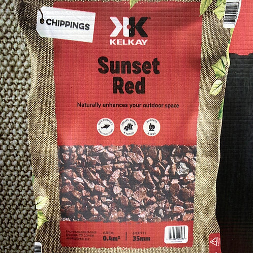 Sunset Red Chippings (large pack size)