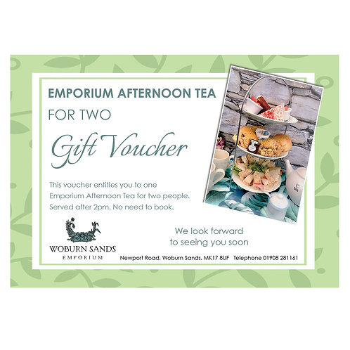 Emporium Afternoon Tea for Two Gift Voucher