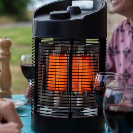 La Hacienda Nero Revolving Tabletop Heater