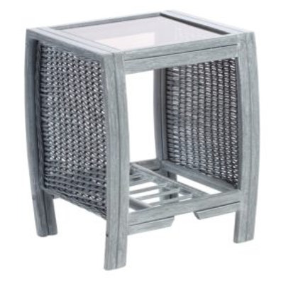 Turin Grey Wash Lamp Table