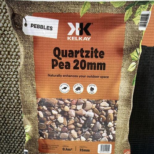 Quartzite Pea Gravel 20mm (large pack size)