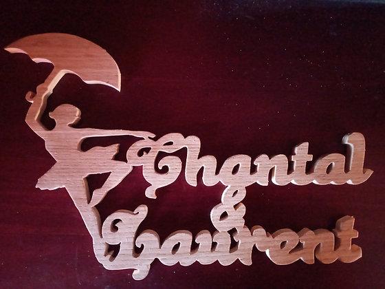 Prénom silhouette _ Chantal & Laurent