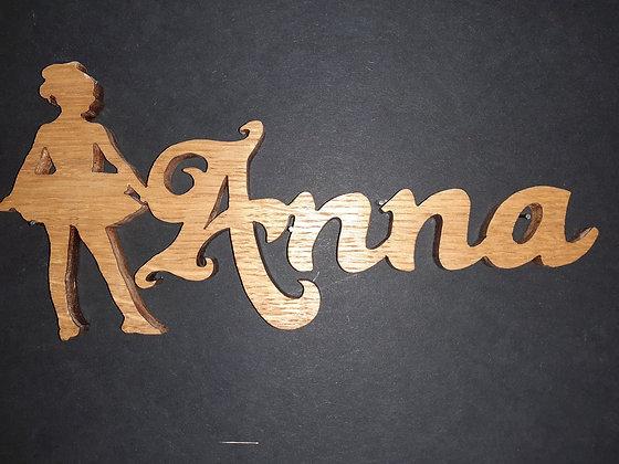 Prénom silhouette _ Anna