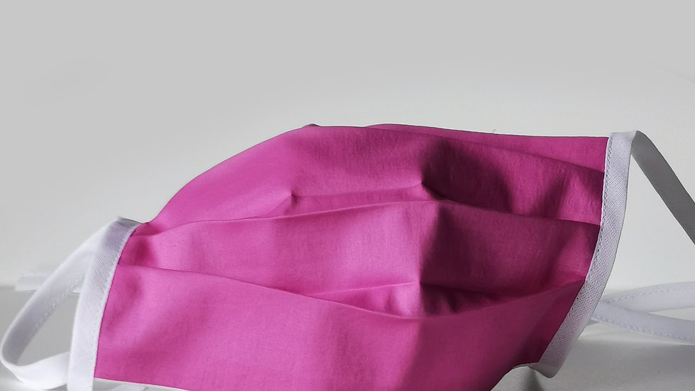 Behelfsmaske Seide - Pink Lady