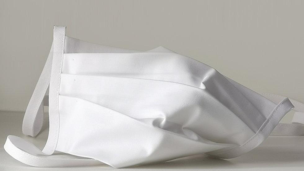 Behelfsmaske Baumwolle - Weiß