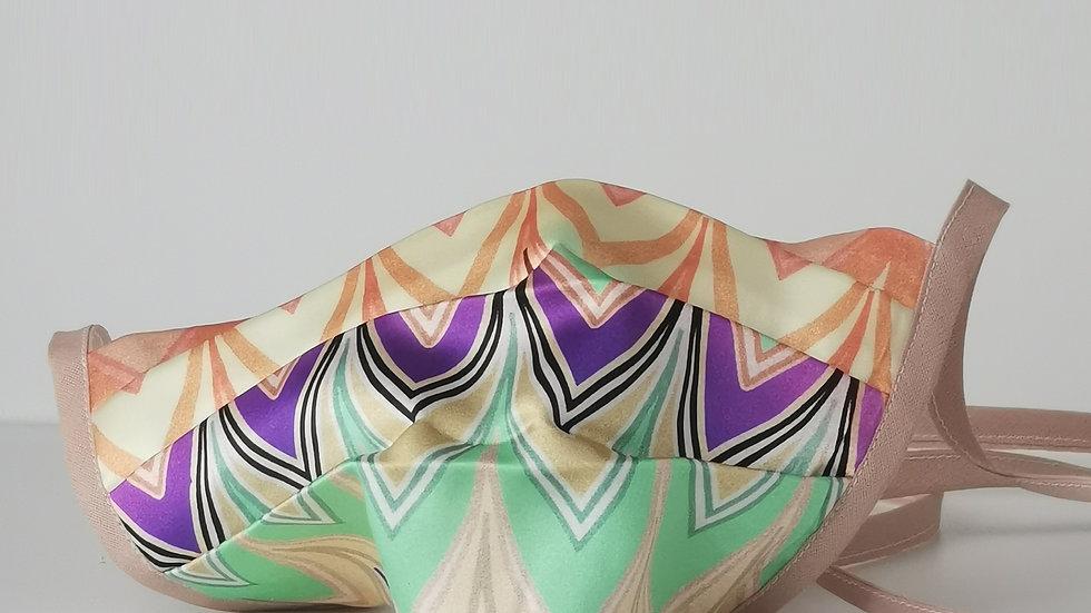 Behelfsmaske Seide - Rainbow