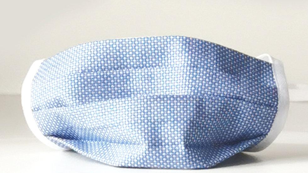 Behelfsmaske Baumwolle - Blau Dots