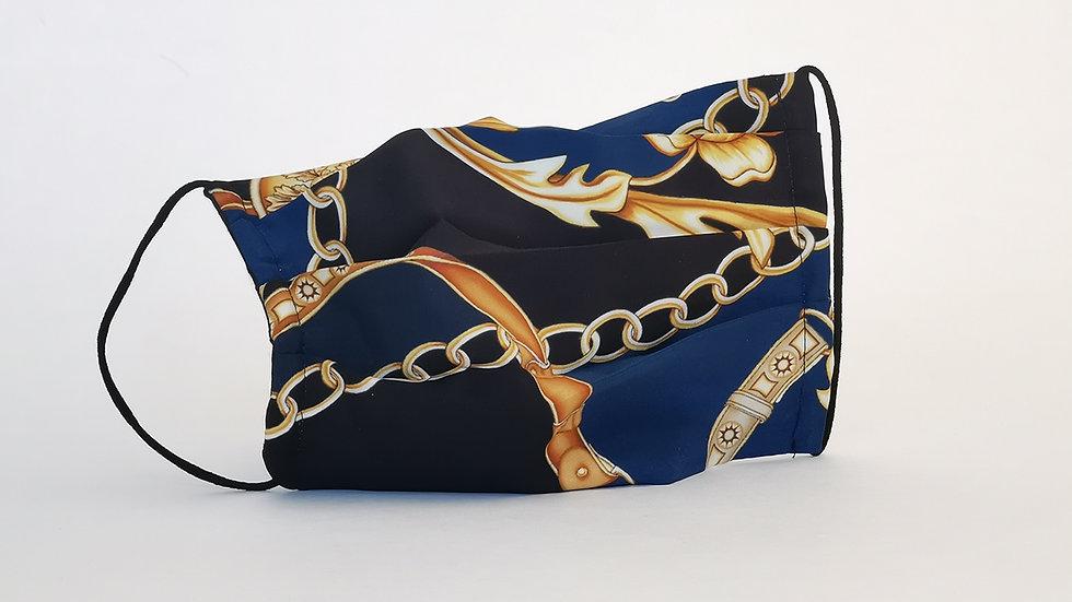 Behelfsmaske Seide - Gold Chains